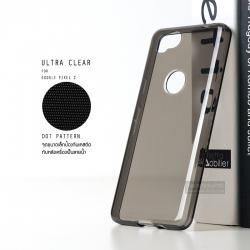 เคส Google Pixel 2 เคสนิ่ม ULTRA CLEAR พร้อมจุดขนาดเล็กป้องกันเคสติดกับตัวเครื่อง สีดำใส
