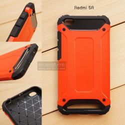 เคส Xiaomi Redmi 5A เคส Hybrid Protection เสริมขอบกันกันกระแทก สีส้มเข้ม