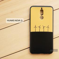 เคส Huawei Nova 2i เคสนิ่ม TPU พิมพ์ลาย (ขอบดำ) แบบที่ 2