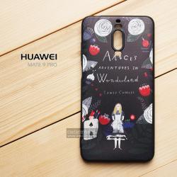 เคส Huawei Mate 9 Pro เคสนิ่ม TPU พิมพ์ลาย (ขอบดำ) แบบที่ 1