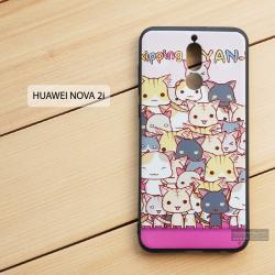 เคส Huawei Nova 2i เคสนิ่ม TPU พิมพ์ลาย (ขอบดำ) แบบที่ 4