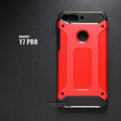 เคส Huawei Y7 PRO 2018 เคสบั๊มเปอร์ (เสริมขอบกันกระแทก) สีแดง Hybrid Protection (Series 2)
