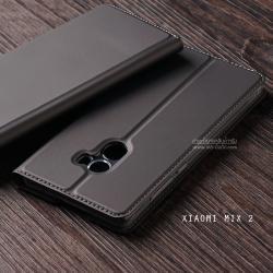 เคส Xiaomi Mi Mix 2 เคสฝาพับเกรดพรีเมี่ยม (เย็บขอบ) พับเป็นขาตั้งได้ สีเทา