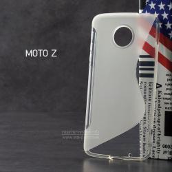 เคส Moto Z เคสนิ่ม TPU ทูโทน (ด้าน-เงา) สีขาว / ใส