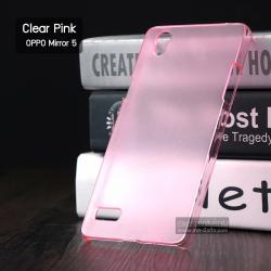 เคส OPPO Mirror 5 เคสแข็งกึ่งโปร่งแสง สีชมพูใส