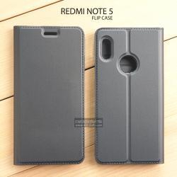 เคส Redmi Note 5 เคสฝาพับเกรดพรีเมี่ยม เย็บขอบ พับเป็นขาตั้งได้ สีเทา (DUX DUCIS)