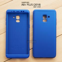 เคส Samsung Galaxy A8+ (PLUS) 2018 เคสแข็ง 3 ส่วน ครอบคลุม 360 องศา (สีน้ำเงิน - น้ำเงิน)