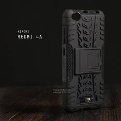 เคส Xiaomi Redmi 4A เคสบั๊มเปอร์ กันกระแทก Defender (พร้อมขาตั้ง) สีดำ