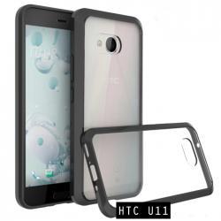 เคส HTC U11 เคส Hybrid ฝาหลังอะคริลิคใส ขอบยางกันกระแทก สีดำ