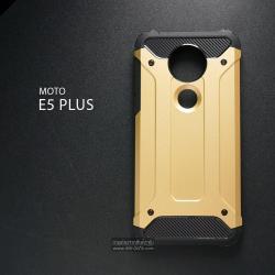 เคส MOTO E5 PLUS เคสบั๊มเปอร์ (เสริมขอบกันกระแทก) สีทอง Hybrid Protection