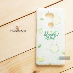 เคส Huawei GR 5 เคสแข็งพิมพ์ลาย 3 มิติ แบบที่ 4 Lime Mint Drawing Powder Lime Mint Drawing Powder