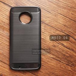 เคส MOTO G6 เคสนิ่มเกรดพรีเมี่ยม (Texture ลายโลหะขัด) กันลื่น ลดรอยนิ้วมือ สีดำ