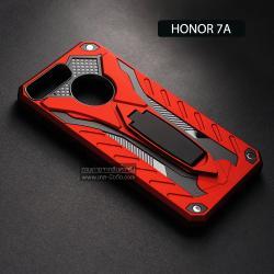 เคส Honor 7A เคสบั๊มเปอร์ กันกระแทก Defender 2 ชั้น (พร้อมขาตั้ง) สีแดง (แบบที่ 2)