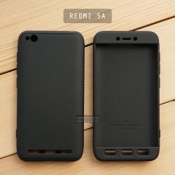 เคส Xiaomi Redmi 5A เคสแข็ง 3 ส่วน ครอบคลุม 360 องศา (สีดำ - ดำ)