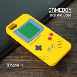 เคส iPhone 4 / 4S เคส Silicone TPU 3D สามมิติ (Realistic) ลาย Gameboy สีเหลือง