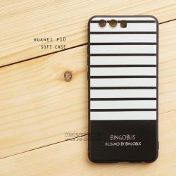 เคส Huawei P10 เคสนิ่ม TPU พิมพ์ลาย (ขอบดำ) ลายที่ 5