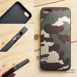 เคส iPhone 5 เคสนิ่ม TPU ลายทหาร (ขอบดำ) สีเขียว
