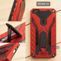 เคส Xiaomi Redmi 5A เคสบั๊มเปอร์ กันกระแทก Defender 2 ชั้น (พร้อมขาตั้ง) สีแดง (แบบที่ 2)