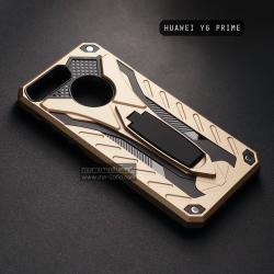 เคส Huawei Y6 Prime เคสบั๊มเปอร์ กันกระแทก Defender 2 ชั้น (พร้อมขาตั้ง) สีทอง (แบบที่ 2)