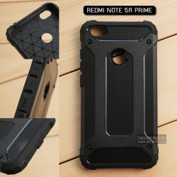 เคส Xiaomi Redmi Note 5A Prime เคสบั๊มเปอร์ (เสริมขอบกันกระแทก) สีดำ Hybrid Protection