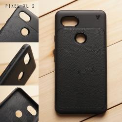 เคส Google Pixel XL 2 เคสนิ่ม Hybrid เกรดพรีเมี่ยม ลายหนัง (ขอบนูนกันกล้อง)