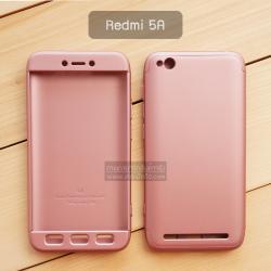 เคส Xiaomi Redmi 5A เคสแข็ง 3 ส่วน ครอบคลุม 360 องศา (สีโรสโกลด์ - โรสโกลด์)