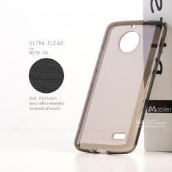 เคส Moto E4 เคสนิ่ม ULTRA CLEAR พร้อมจุดขนาดเล็กป้องกันเคสติดกับตัวเครื่อง สีดำใส