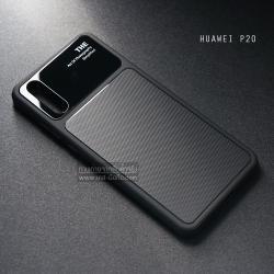 เคส Huawei P20 เคสขอบนิ่ม ฝาหลังแข็ง ผิวหยาบกันลื่น