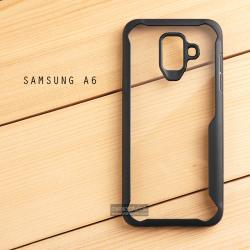 เคส Samsung Galaxy A6 เคสฝาหลังอะคริลิคใส ขอบยางกันกระแทก แบบที่ 2 (ขอบนูนรอบกล้อง) สีดำ