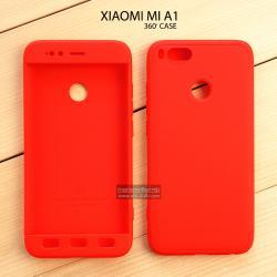 เคส Xiaomi Mi A1 เคสแข็งแบบ 3 ส่วน ครอบคลุม 360 องศา (สีแดง - แดง)