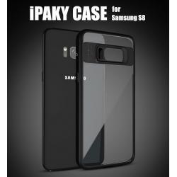 เคส Samsung Galaxy S8 เคส iPaky Hybrid Bumper (เคสใส) พร้อมขอบบั๊มเปอร์ สีดำ