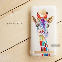 เคส Huawei Y3II (Y32) เคสนิ่ม TPU พิมพ์ลาย แบบที่ 2 Colorful Giraffe