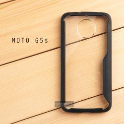เคส Moto G5s เคสฝาหลังอะคริลิคใส ขอบยางกันกระแทก แบบที่ 2 (ขอบนูนรอบกล้อง) สีดำ