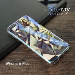 """เคส iPhone 6 Plus (5.5"""" นิ้ว) เคส TPU พื้นผิวเงาสะท้อน (Blu-ray Series) แบบที่ 9 คริสตัล"""
