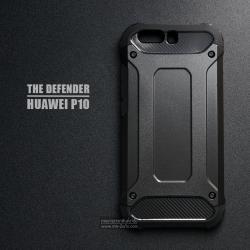 เคส Huawei P10 เคสบั๊มเปอร์ (เสริมขอบกันกระแทก) สีดำ Hybrid Protection