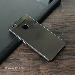 เคส Huawei P9 Lite เคสฝาหลัง + Bumper (แบบเงา) ขอบกันกระแทก สีสเปซเกรย์ (แบบ Luxury)