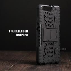 เคส Huawei P10 Plus กรอบบั๊มเปอร์ กันกระแทก Defender (เป็นขาตั้งได้) สีดำ