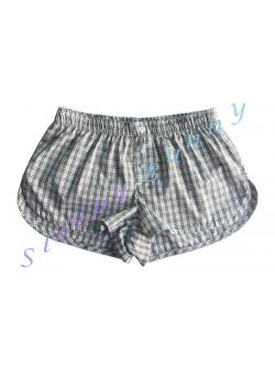 bx53 กางเกง boxer ผู้หญิง ลายสก็อตสีขาวเทา พร้อมส่ง Size S,M,L --> Pajamazz