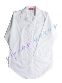 ds38 lot4 ชุดนอนเดรสเชิ้ตสีขาวออฟไวท์ Size S พร้อมส่ง --> Pajamazz