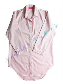 เปิดจอง ( Size M มีของพร้อมส่ง 1 ชุด ที่เหลือจัดส่งวันที่ 7-10 ส.ค.61) ds69 ชุดนอนเดรสเชิ้ตสีชมพูอ่อน Size S,M --> Pajamazz