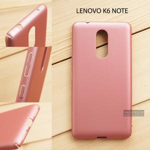 เคส Lenovo K6 Note เคสแข็งสีเรียบ คลุมขอบ 4 ด้าน สีชมพู