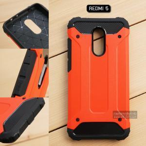 เคส Redmi 5 เคสบั๊มเปอร์ (เสริมขอบกันกระแทก) สีส้มเข้ม Hybrid Protection