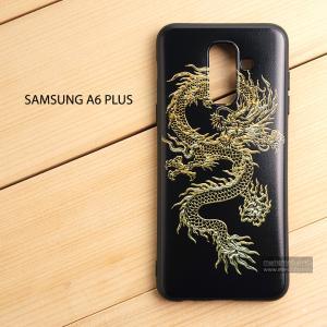 เคส Samsung Galaxy A6 Plus เคสนิ่ม TPU พิมพ์ลาย (ขอบดำ) แบบที่ 5