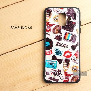 เคส Samsung Galaxy A6 เคสนิ่ม TPU พิมพ์ลาย (ขอบดำ) แบบที่ 4