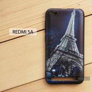 เคส Redmi 5A เคสนิ่ม TPU พิมพ์ลาย (ขอบดำ) แบบที่ 1 Night Eiffel