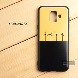 เคส Samsung Galaxy A6 เคสนิ่ม TPU พิมพ์ลาย (ขอบดำ) แบบที่ 9
