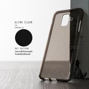 เคส Samsung Galaxy A6 เคสนิ่ม ULTRA CLEAR พร้อมจุดขนาดเล็กป้องกันเคสติดกับตัวเครื่อง สีดำใส