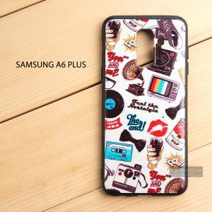 เคส Samsung Galaxy A6 Plus เคสนิ่ม TPU พิมพ์ลาย (ขอบดำ) แบบที่ 3