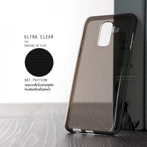 เคส Samsung Galaxy A6+ (PLUS) เคสนิ่ม ULTRA CLEAR พร้อมจุดขนาดเล็กป้องกันเคสติดกับตัวเครื่อง สีดำใส