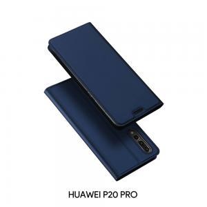 เคส Huawei P20 PRO เคสฝาพับเกรดพรีเมี่ยม เย็บขอบ พับเป็นขาตั้งได้ สีกรมท่า(Dux Ducis)